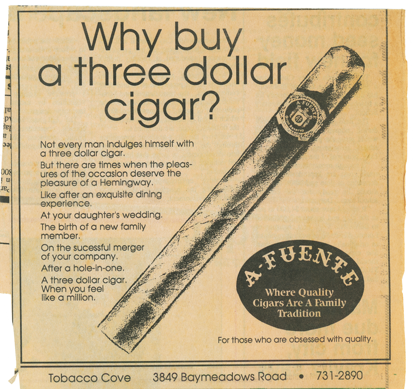 Three Dollar Cigar